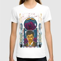 david tennant T-shirts featuring Doctor Who, David Tennant Allons-Y 10th Doctor by Tom Ryan's Studio