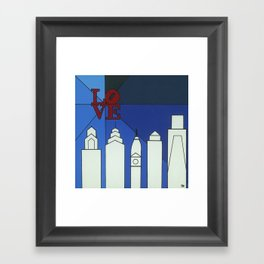 blue LOVE shine Framed Art Print
