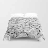 fabric Duvet Covers featuring Fabric by DuckyB
