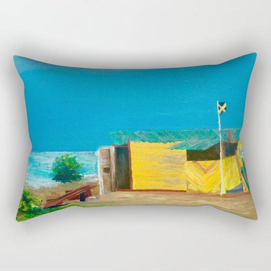 Jamaica. Jamaican Blues Rectangular Pillow