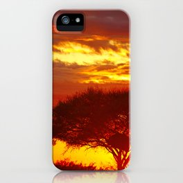 Glowing African Morning iPhone Case