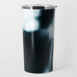 Figure behind a curtain. Travel Mug