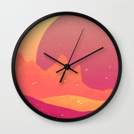 we could be mountains Wall Clock