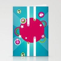 disco Stationery Cards featuring Disco by Klara Aldana
