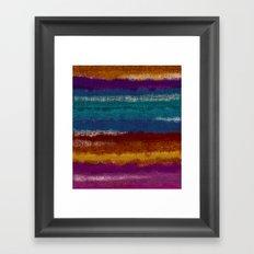 Knit stripes Framed Art Print