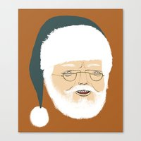 santa Canvas Prints featuring santa by Rich Orr