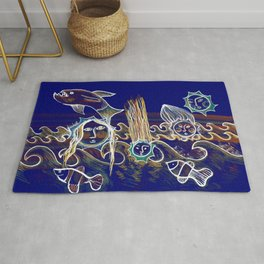 More Suns for Life at Deep Blue Rug