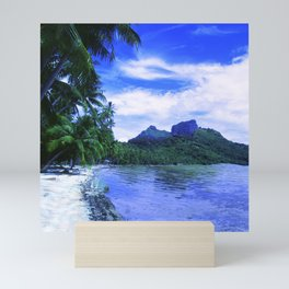 Tropical Paradise Island Beach in French Polynesia Mini Art Print