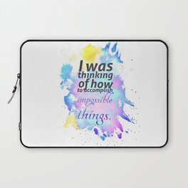 How to Accomplish Impossible Things Laptop Sleeve