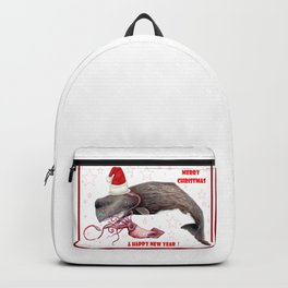Merry Christmas Sperm whale Backpack