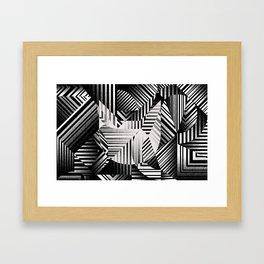 Dazzle cat Framed Art Print