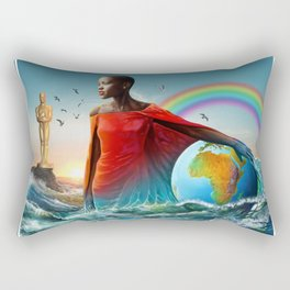 The Lupita Tsunami Rectangular Pillow