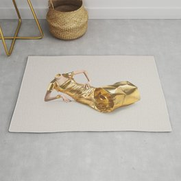 Lose your head - Gold tube Rug