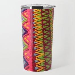 Colorful Guatemalan Alfombra Travel Mug