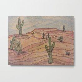 Saguaros in Arizona Metal Print