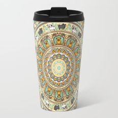 Pug Yoga Medallion Travel Mug