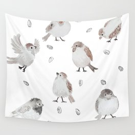 Sparrows Wall Tapestry