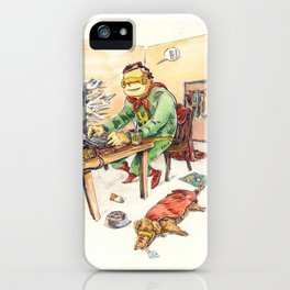 Hero and his Superdog iPhone Case