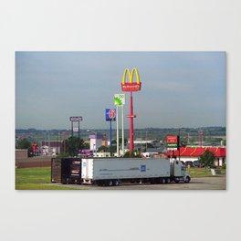 Lincoln, Nebraska - Trucks, Gas and Motels 2005 Canvas Print