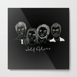 Wolf Alice (Inverted) Metal Print