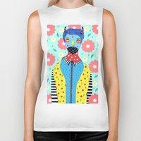 kpop Biker Tanks featuring Make Me Colourful by Saif Chowdhury