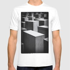 Holocaust Memorial, Berlin White MEDIUM Mens Fitted Tee