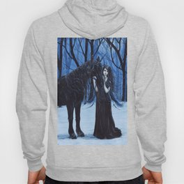 Midnight Travelers Gothic Fairy and Unicorn Hoody