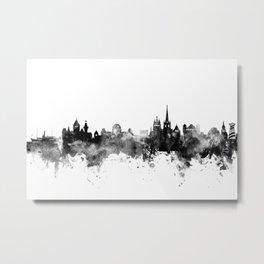 Lausanne Switzerland Skyline Metal Print