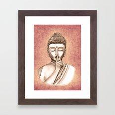Buddha Shh.. Do not disturb - Colored version Framed Art Print