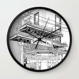 Nagasaki - China Town Wall Clock