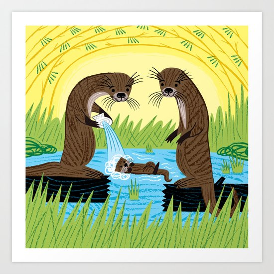 An Otter's Paradise Art Print