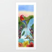 brasil Art Prints featuring Brasil by Thyra