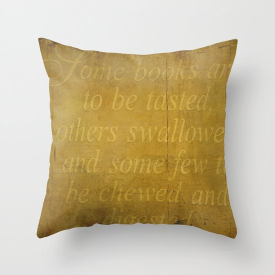 Some books are... Throw Pillow
