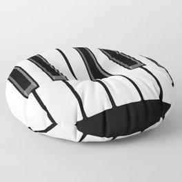 Ebony & Ivory Floor Pillow
