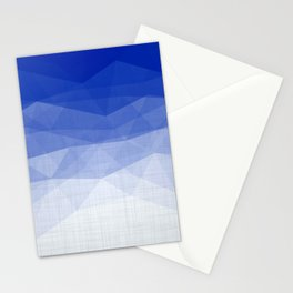 Imperial Lapis Lazuli - Triangles Minimalism Geometry Stationery Cards