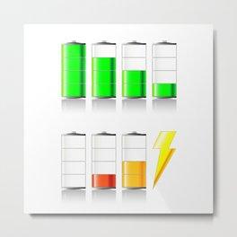 Battery Charging Metal Print