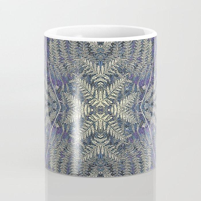 SYMMETRICAL PASTEL PURPLE BRACKEN FERN MANDALA Coffee Mug