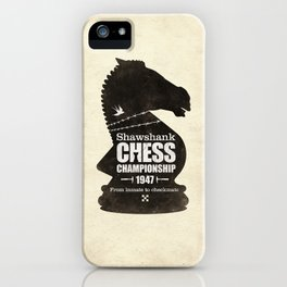 Shawshank Chess Championship iPhone Case