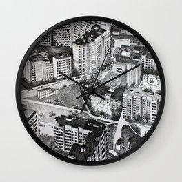 Graphic art, urban, city Wall Clock
