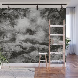 abstract misty forest painting 2 hvhdbw Wall Mural