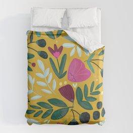 Mustard bouquet Duvet Cover