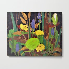 Tom Thomson - Water Flowers - Digital Remastered Edition Metal Print