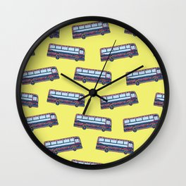 Bermuda Bus Wall Clock