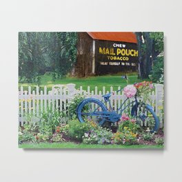 Stopping by Grandpa's barn Metal Print