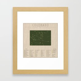 Colorado Parks Framed Art Print
