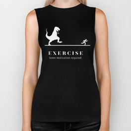 Exercise - Some Motivation Required Graphic T-Shirt Biker Tank