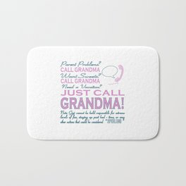 Just Call Grandma! Bath Mat