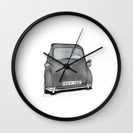 retro car . artwork Wall Clock