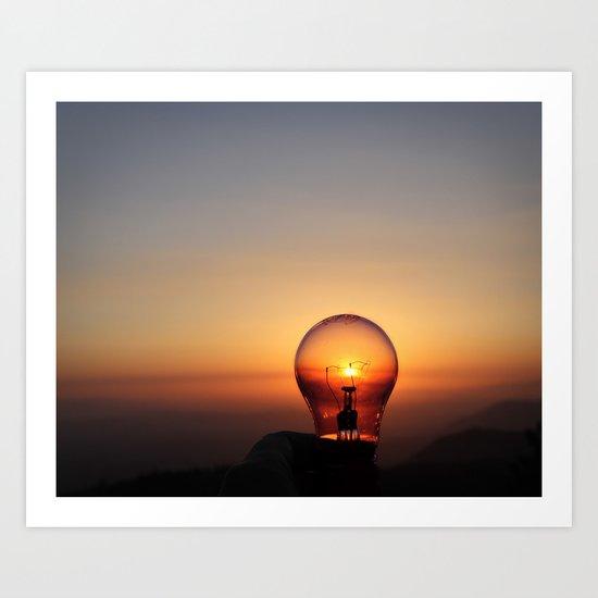 Shine a light Art Print