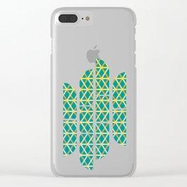 Overlap #6 reverse Clear iPhone Case